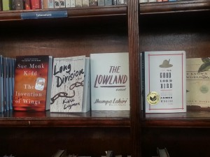 A selection of books at Busboys & Poets
