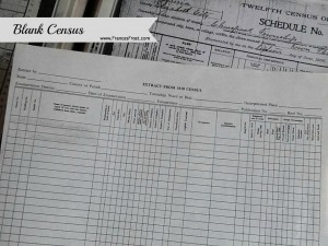Use blank census forms for note-taking.